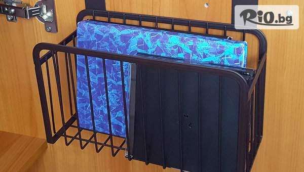 Висяща метална кошница за вратичка на кухненски шкаф - органайзер рафт, от Svito Shop