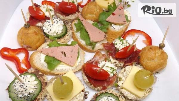 Сет със 170 солени и сладки хапки микс + БОНУСИ, от Handamp;D catering